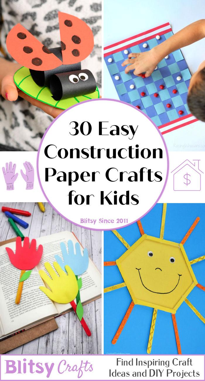 30 amazing construction paper crafts for kids