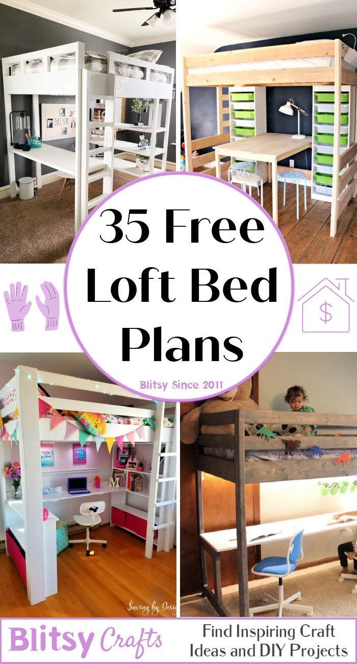 35 free diy loft bed plans
