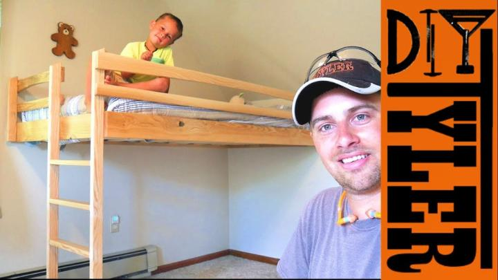 $40 Ash Loft Bed - Save Space And Money