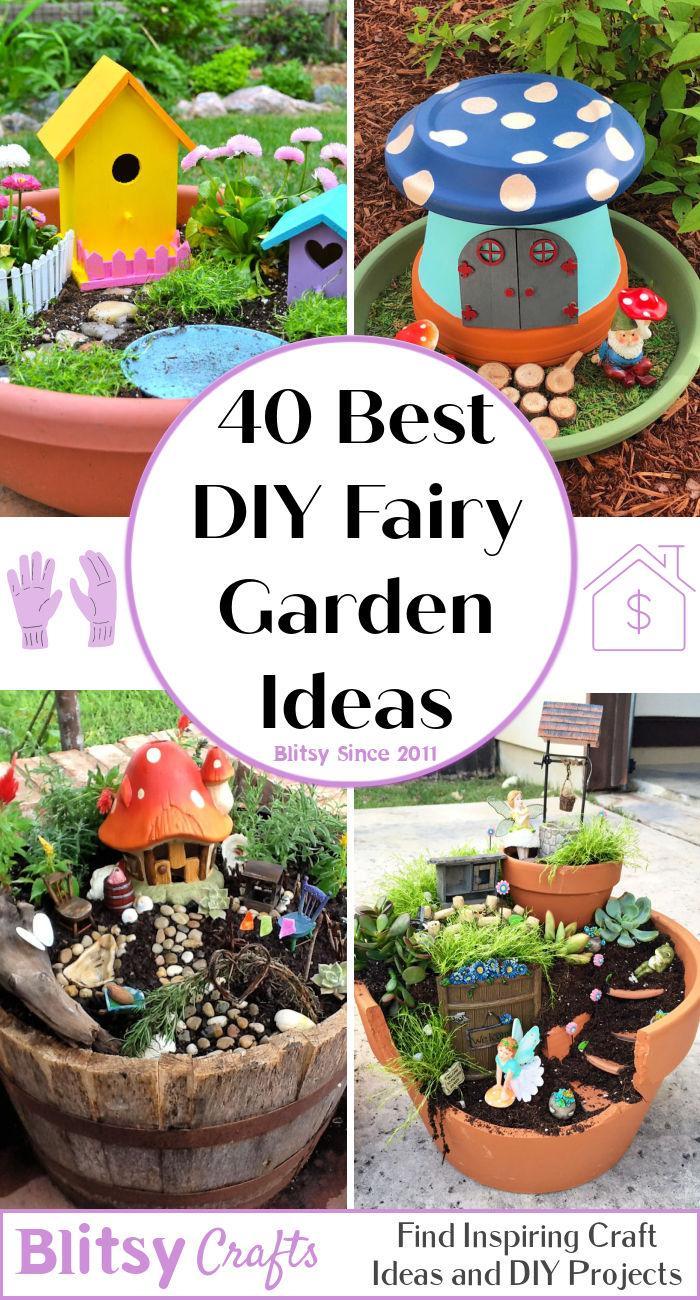 40 Creative DIY Fairy Garden Ideas
