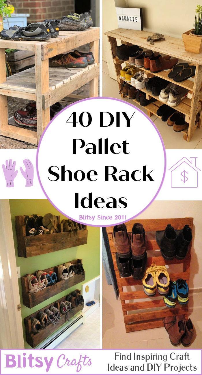 40 DIY Pallet Shoe Rack Ideass