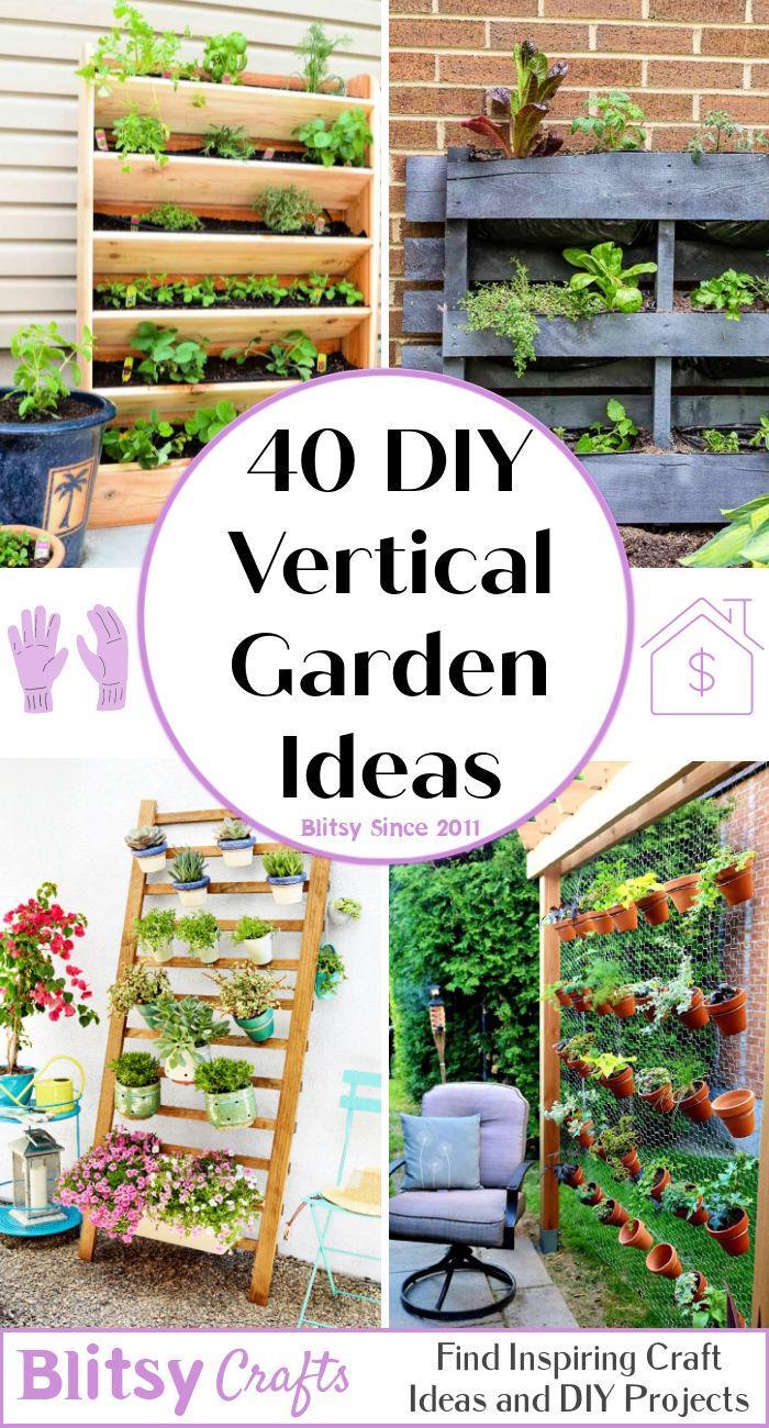 40 cheap and durable DIY Vertical Garden Ideas