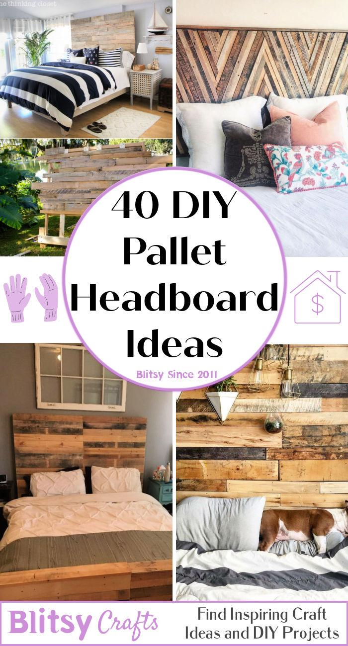 40 diy wood pallet headboard ideas with instructions