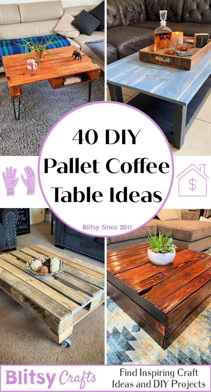 40 diy wooden pallet coffee table ideas
