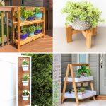 40 free DIY plant stand plans that come with detailed instructions and a material list