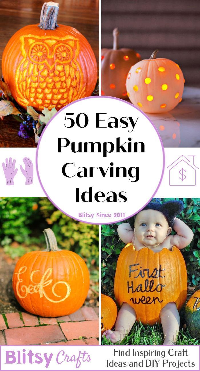 50 easy pumpkin carving ideas for halloween
