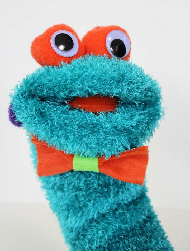 Adorable DIY Monster Sock Puppet