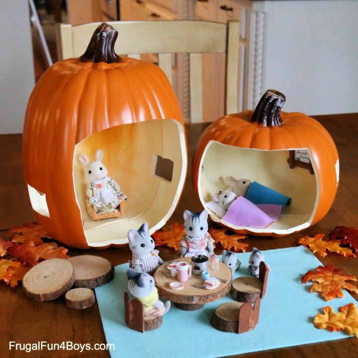 Adorable Pumpkin Doll House