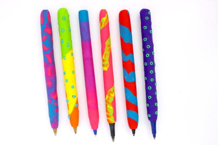 Back to School Polymer Clay Pens