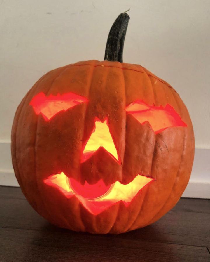 Batman Themed Pumpkin Carving