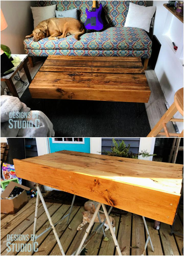 Build Coffee Table Using a Pallet