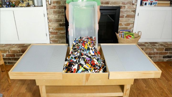 Build a Lego Storage Table