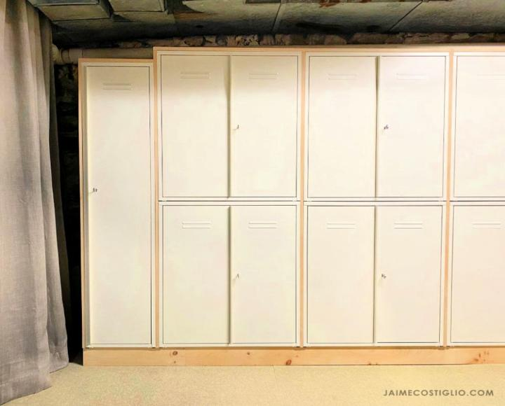 Built In Locker Storage Wall