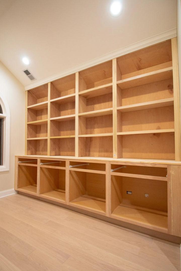 Built Ins Bookshelves Plan
