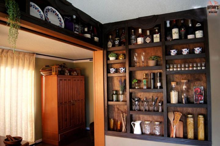Built in Kitchen Shelves Plan