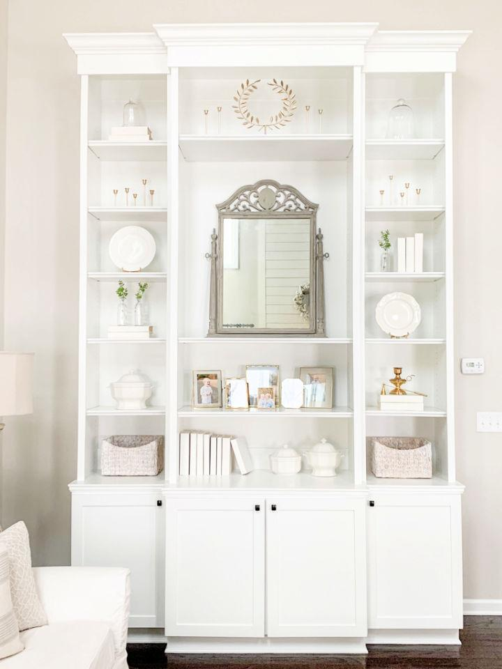 Built ins Shelves Using Pre assembled Stock Cabinets