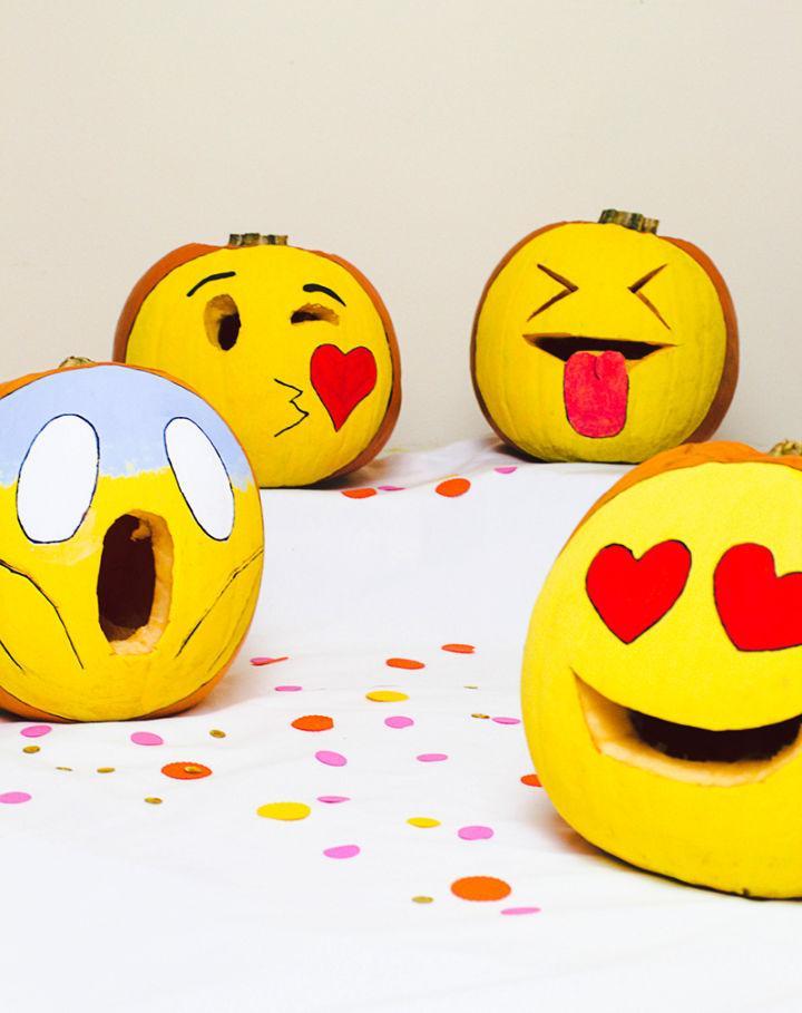 Carved Pumpkin Emojis for Halloween