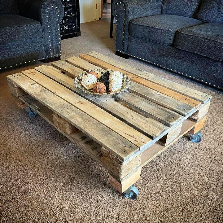Cheap Coffee Table Out Of Pallets