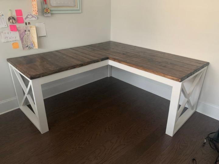 Cheap DIY L Shaped Desk
