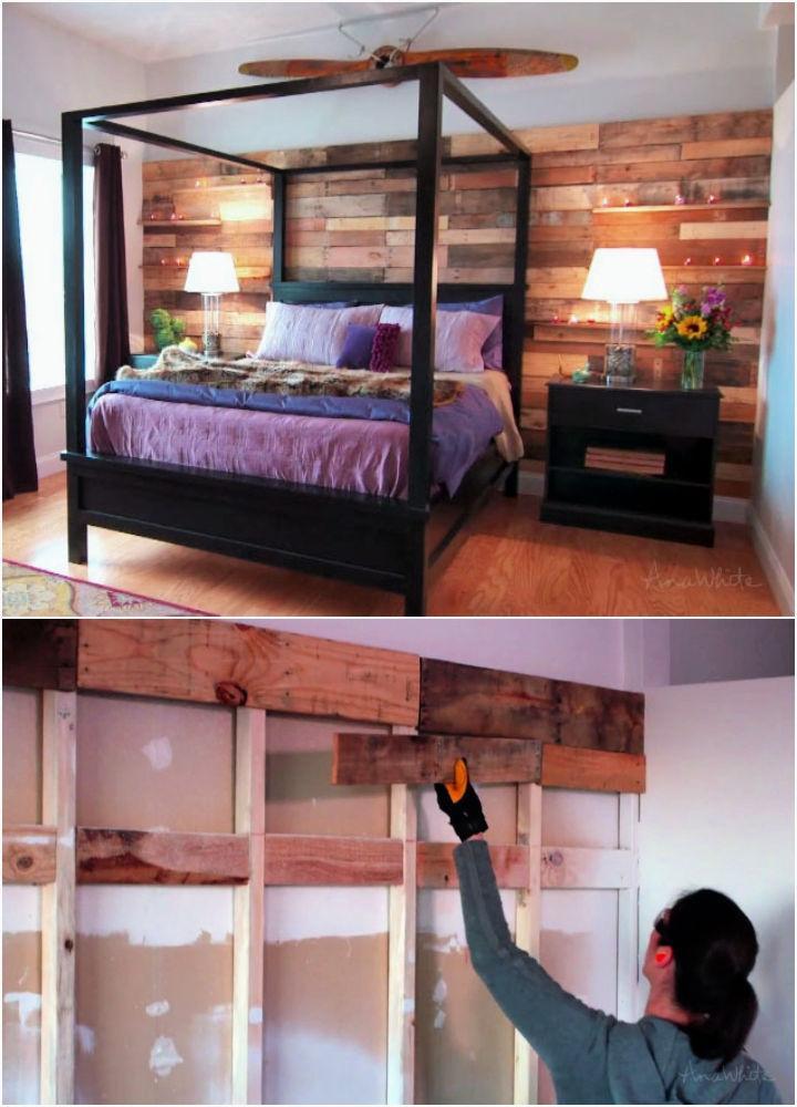 Cheap Pallet Wood Wall
