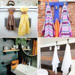 25 Unique DIY Towel Rack Ideas to Organize Your Bathroom