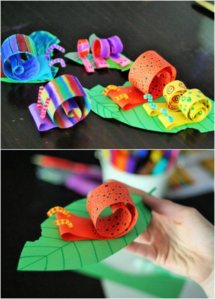 Coiled Paper Snail Craft for Toddlers