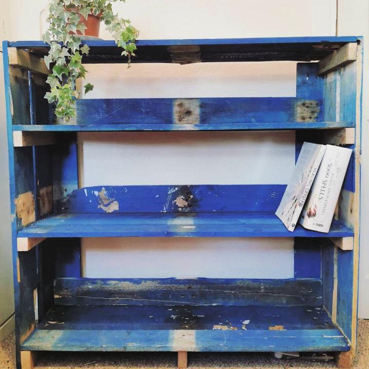 Colored Pallets Bookshelf