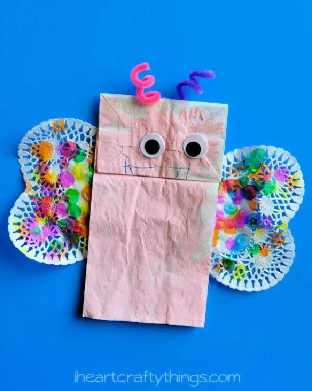 Colorful Paper Bag Butterfly