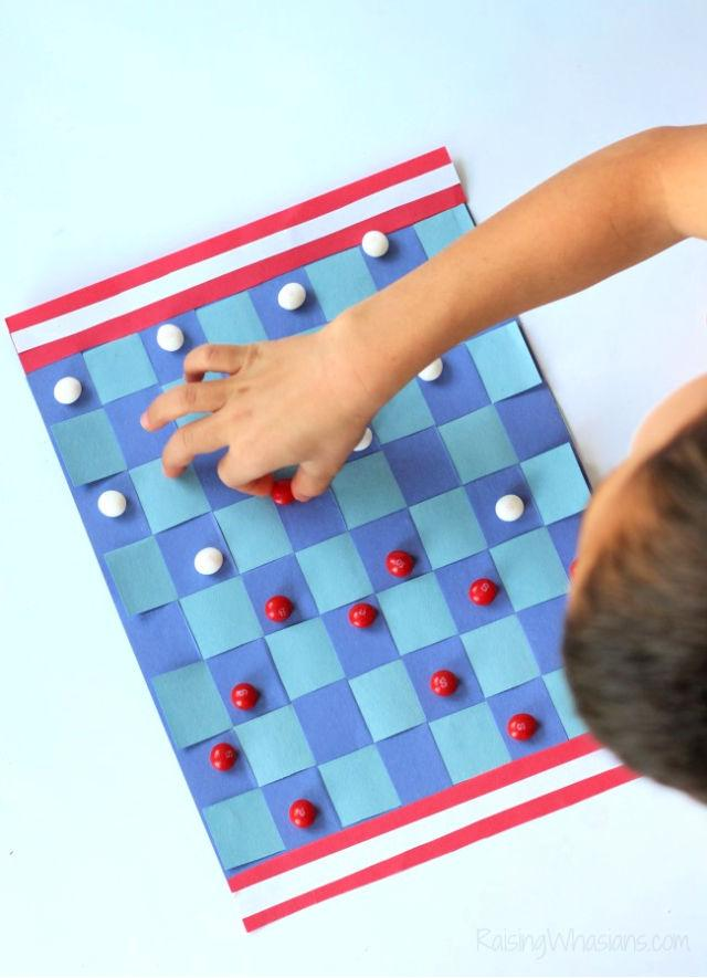 Construction Paper Checkerboard for Kids