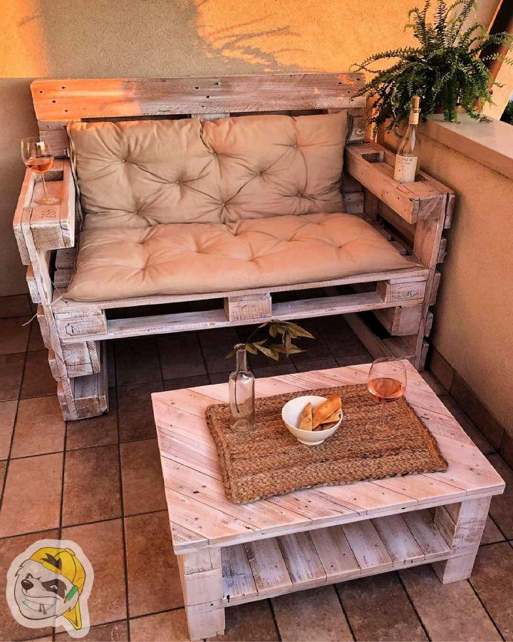 Couch Made From Salvaged Pallets