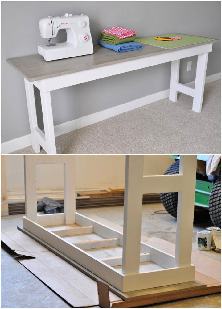 Craft Room Sewing Table Plan