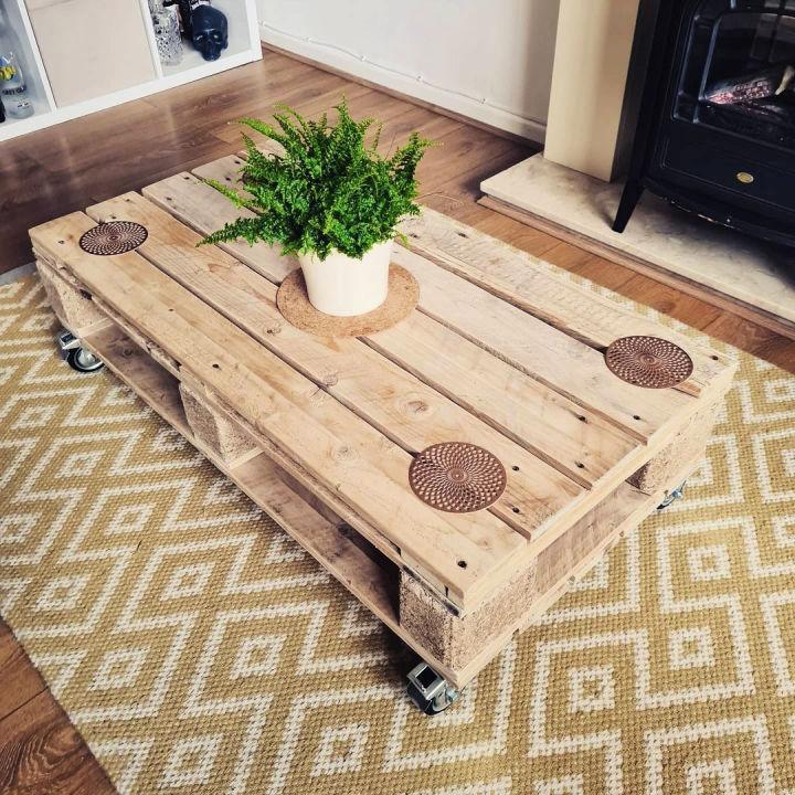 Custom Made Pallet Coffee Table