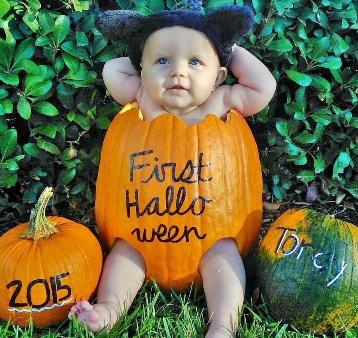 DIY Baby In a Pumpkin