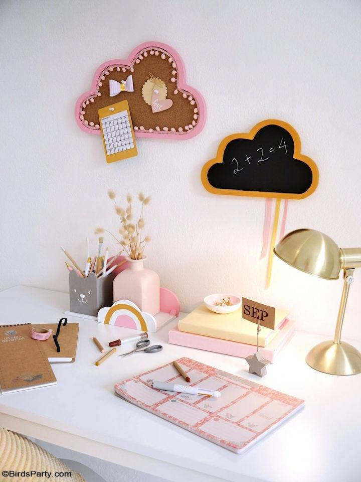 DIY Boho Study Kids Desk Décor