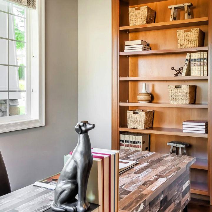 DIY Built in Wall Shelves