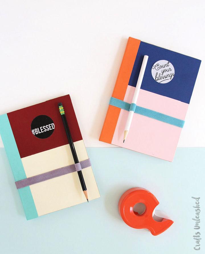 DIY Color Block Gratitude Journals