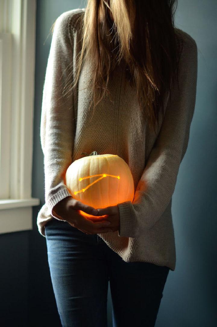DIY Constellation Pumpkin Carving