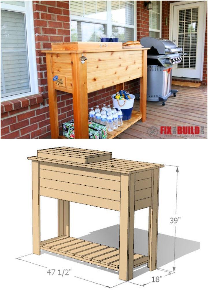 DIY Cooler Box Cart