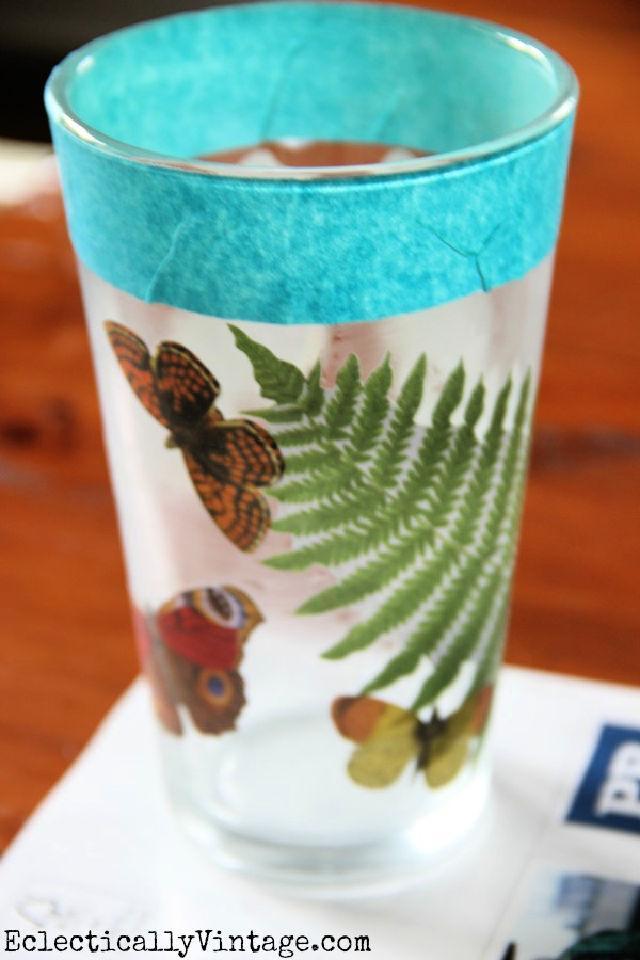 DIY Decoupage Drinking Glass
