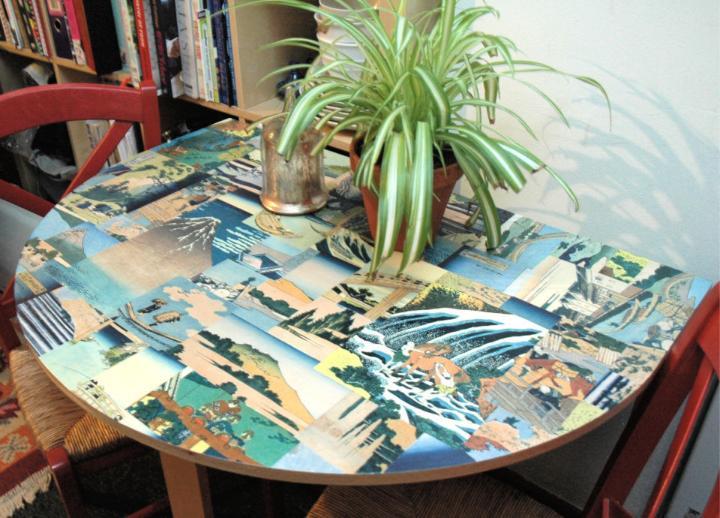DIY Decoupage Tabletop