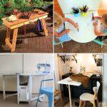 25 Cheap and Useful DIY Folding Table Plans To Save More Space