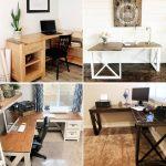 DIY L Shaped Desks