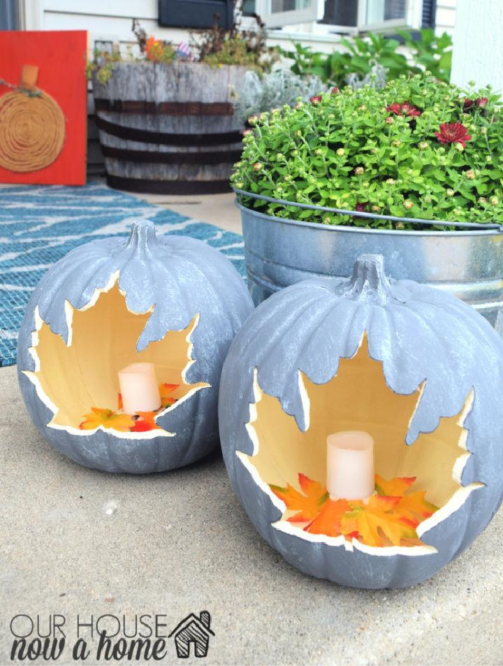 DIY Leaf Pumpkin for Fall