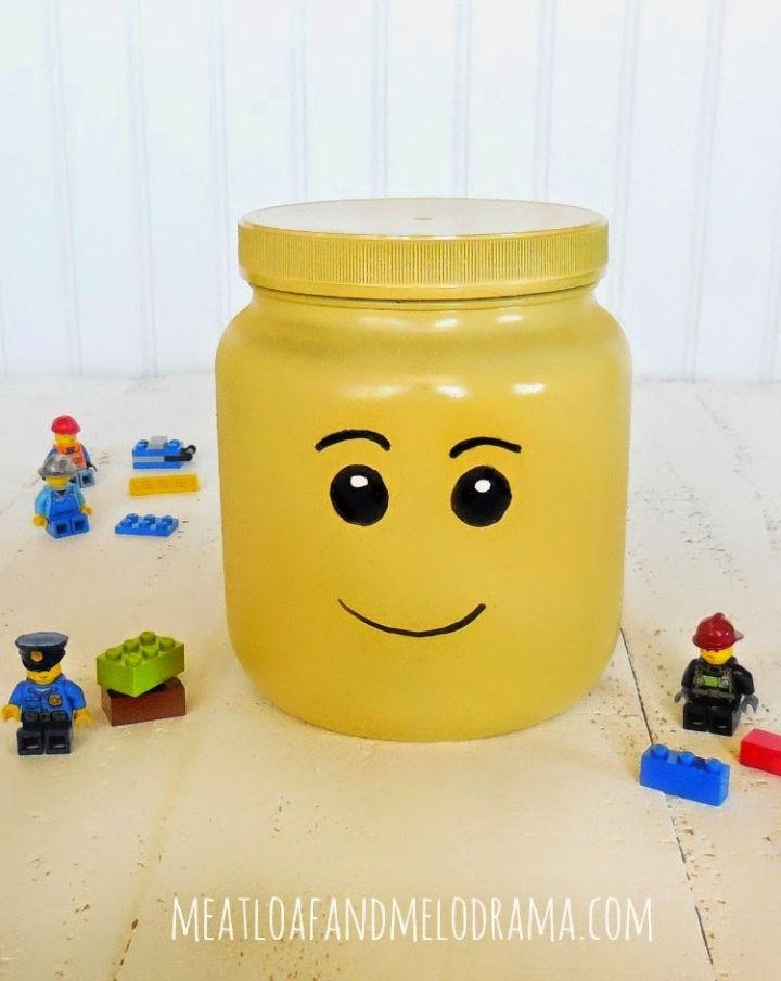 DIY Lego Head Storage Container