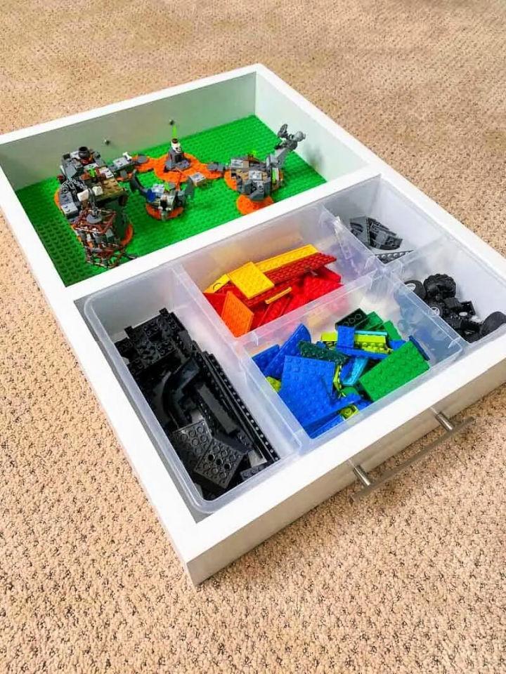 DIY Lego Tray with Organizer