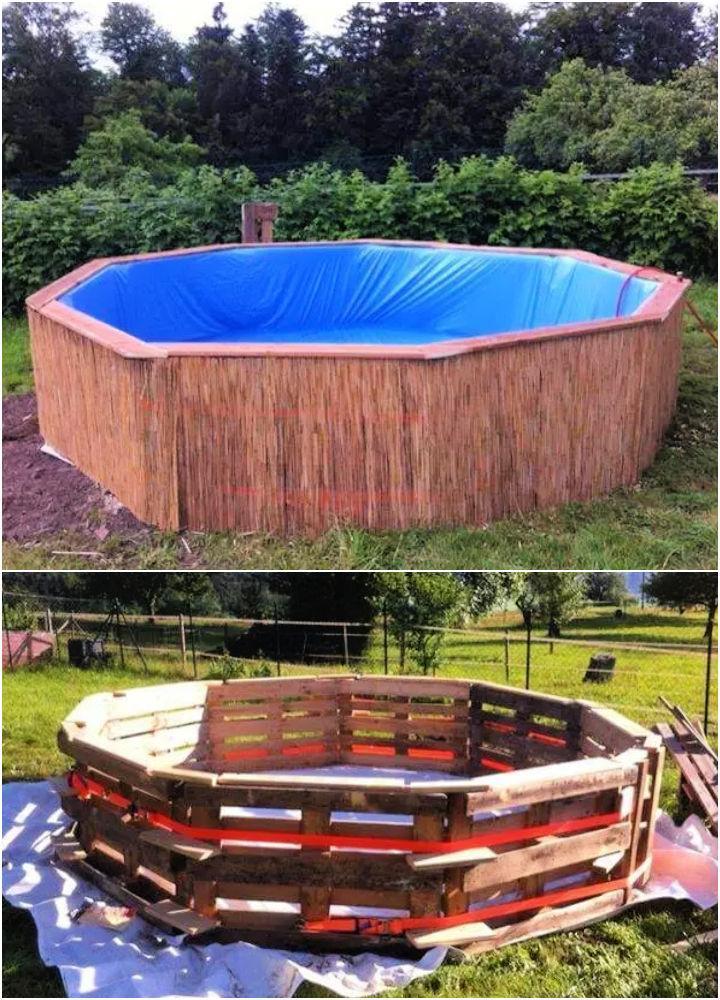 DIY Pallet Swimming Pool