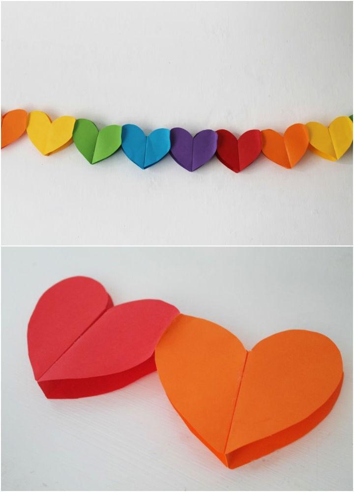 DIY Construction Paper Heart Garland