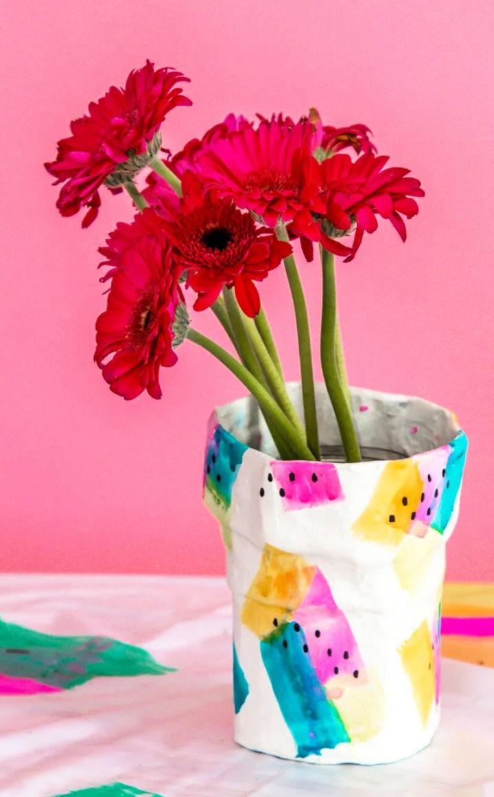 DIY Paper Mache Flower Vase