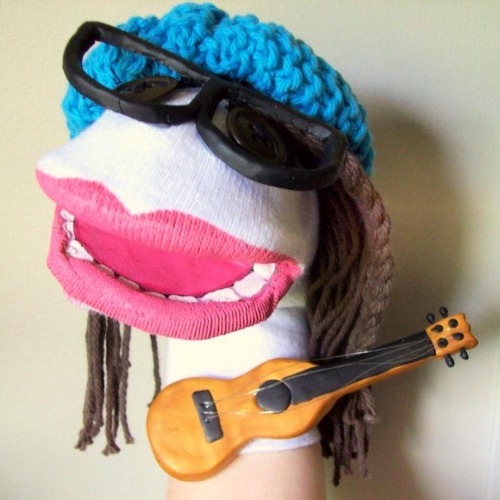 DIY Rock Star Sock Puppet