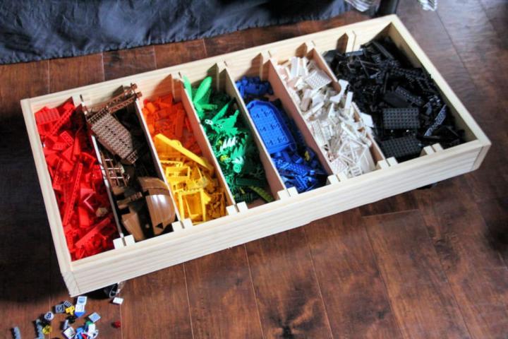 DIY Rolling Lego Sorter
